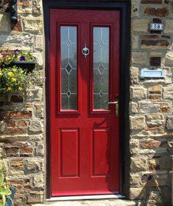 New red composite door