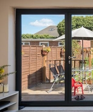 bi-fold door closed