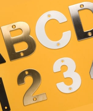 door letters and numerals