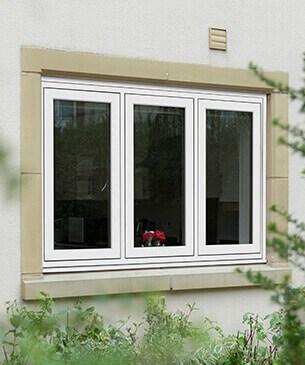 white flush casement windows