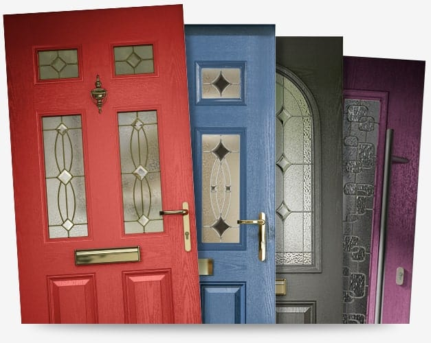 Different composite doors in different colours