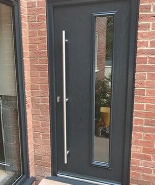 Modern grey front door